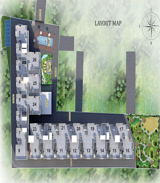 Ncc Urban Temple Trees - Layout Plan